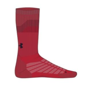 UNDER ARMOUR Training Red Cushion Run Socks M